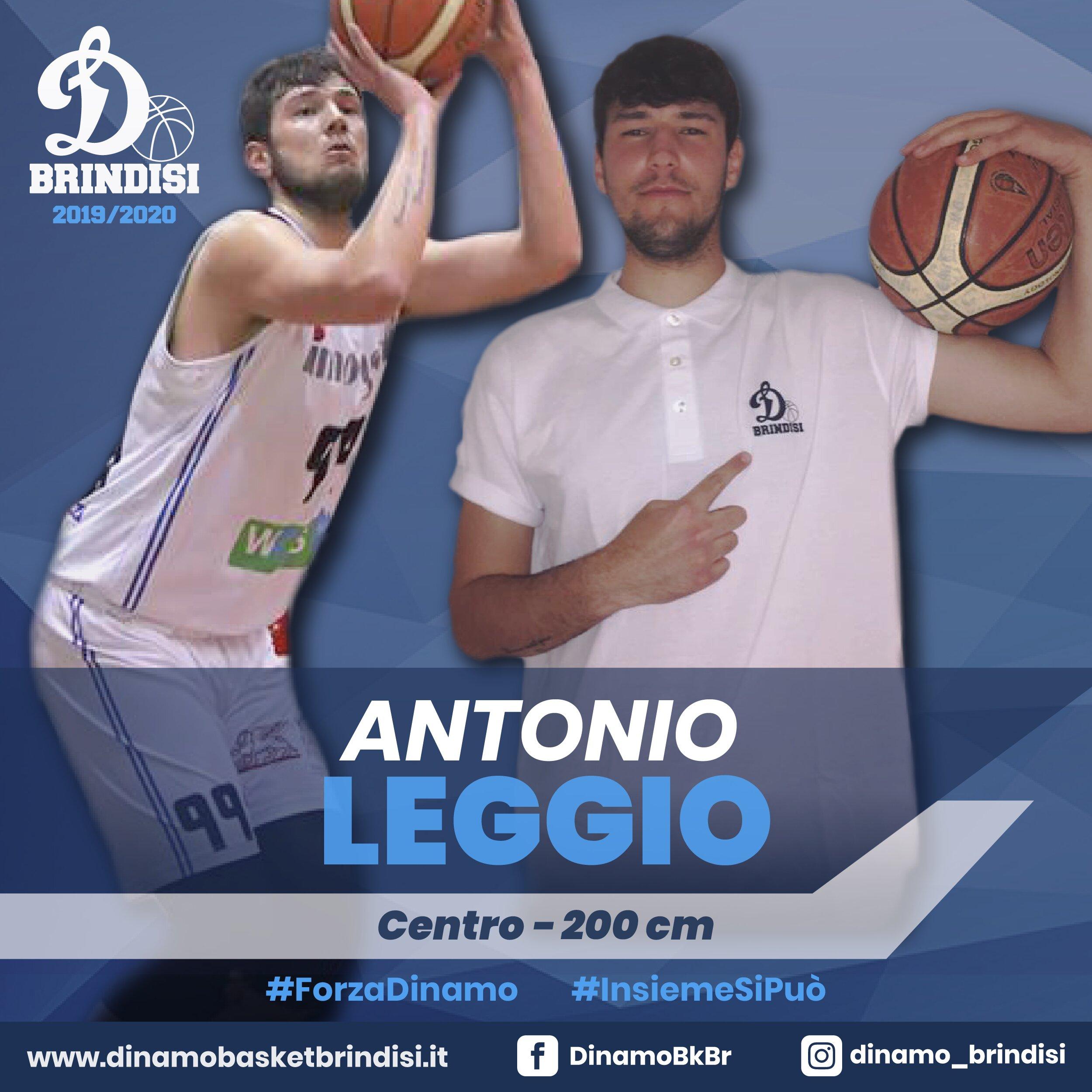 La Dinamo riparte dal suo centro: Antonio Leggio firma un biennale