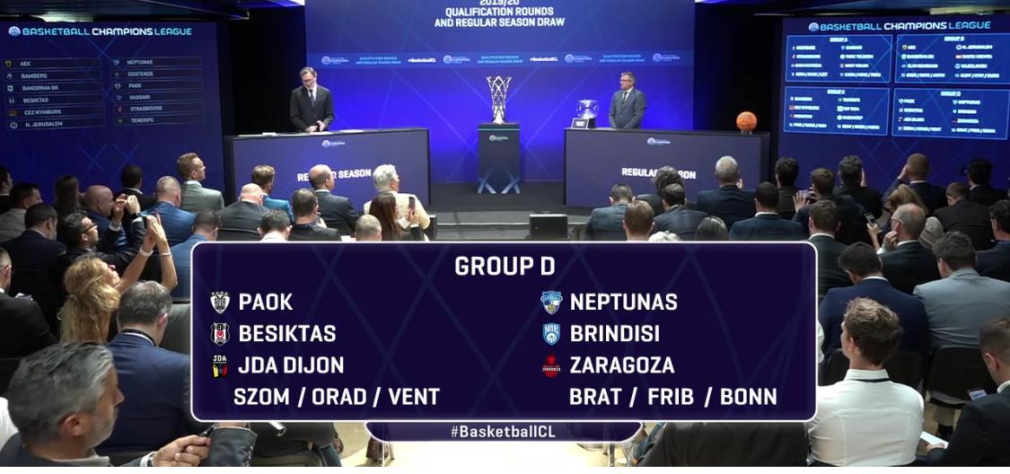 Champions: Brindisi contro Saragozza, Besiktas, Dijon, Neptunas, Paok e forse Bonn e Ventspils