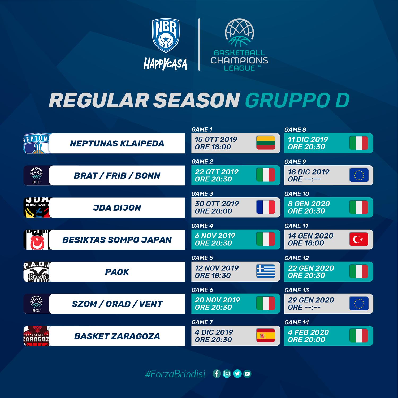 Happy Casa: le date della Champions League