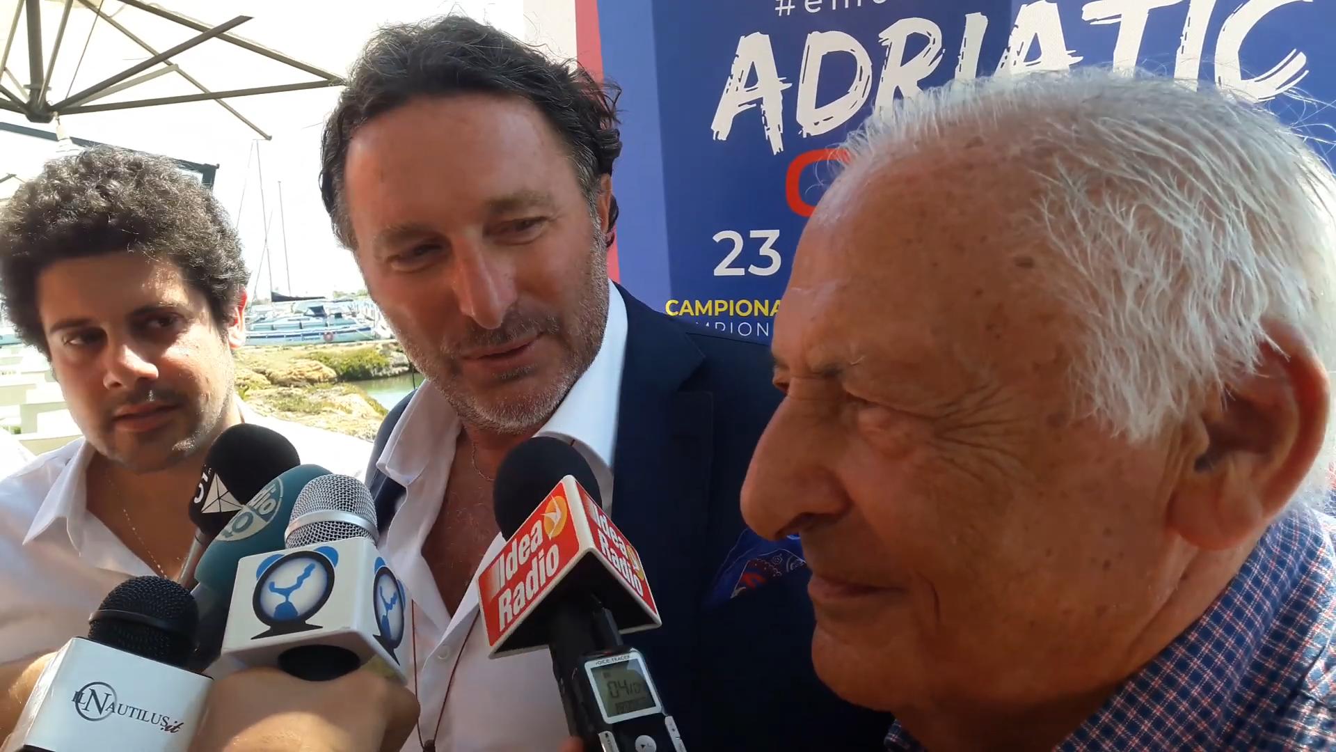VIDEO – Adriatic Cup e concerto Emozioni, le dichiarazioni di Danese