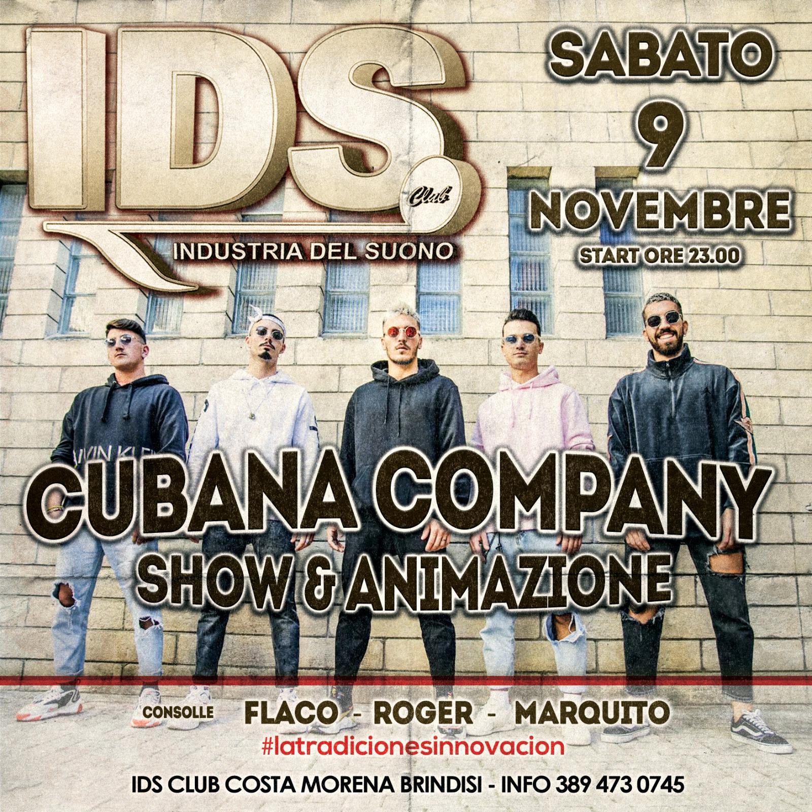 Tradizione e innovazione all'Ids. Sabato 9 novembre, spettacolo con 3 dj storici e la Cubana Company