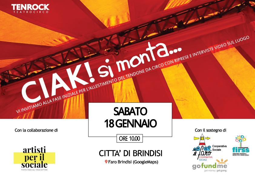 """Ciak si monta: al via i lavori di allestimento del progetto """"Teatro Circo TenRock"""" – Città di Brindisi"""