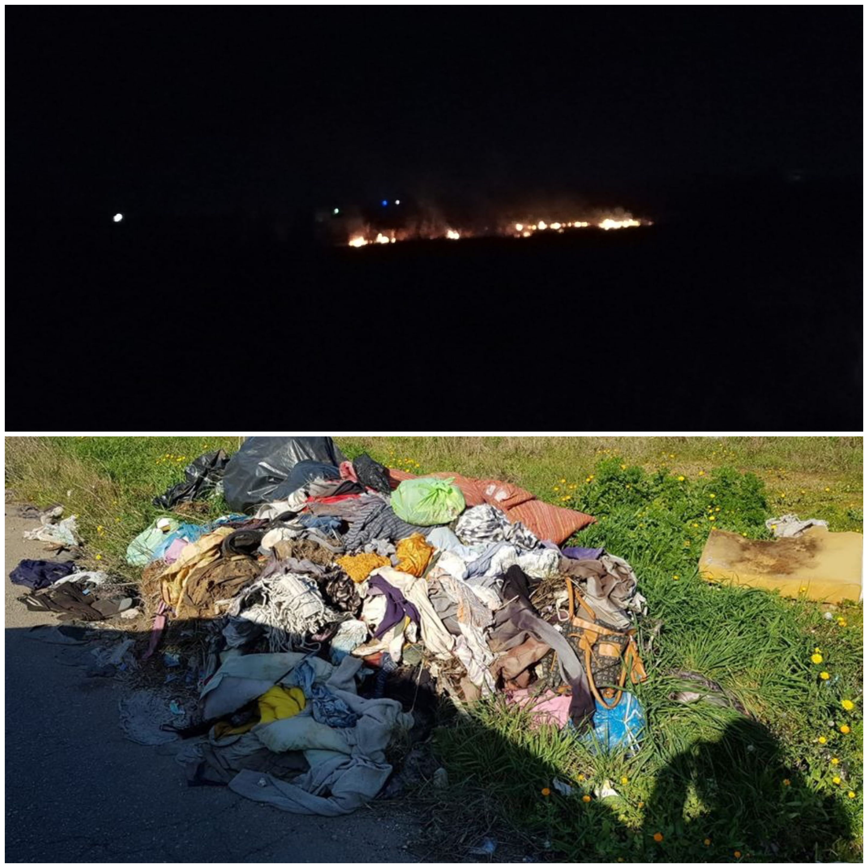 Incendio di rifiuti sulla San Pietro-Mesagne