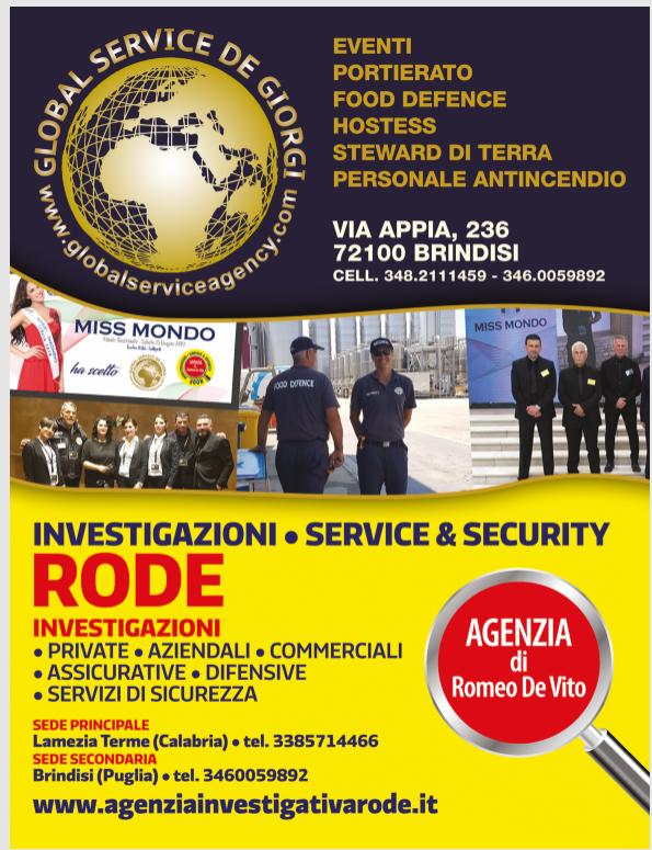 Emergenza Covid-19: iniziativa di Global Service e FDI Brindisi