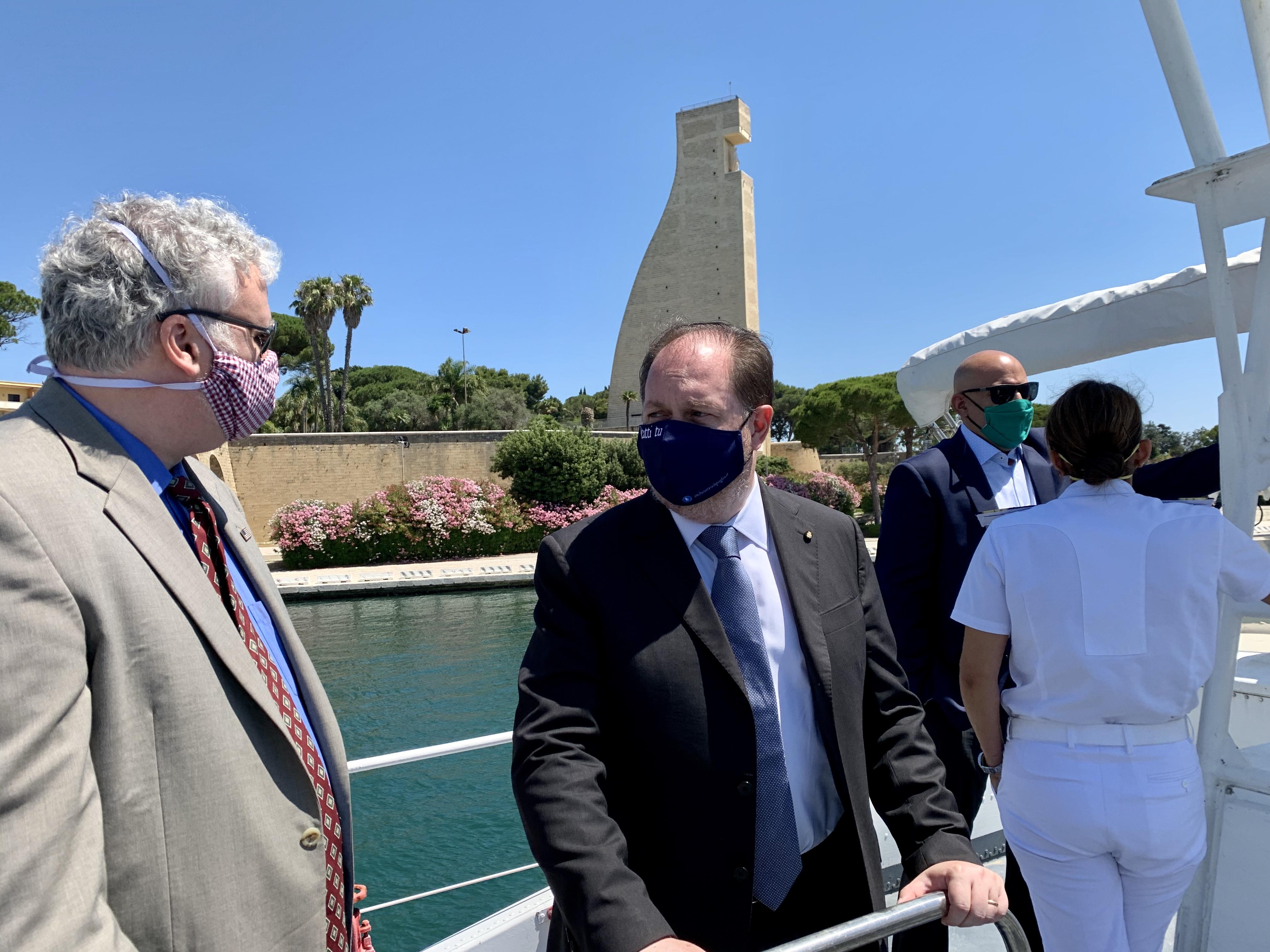 Una delegazione del Consolato americano di Napoli e dell'Ambasciata americana a Roma ricevuta a Brindisi: possibili investimenti statunitensi sul territorio