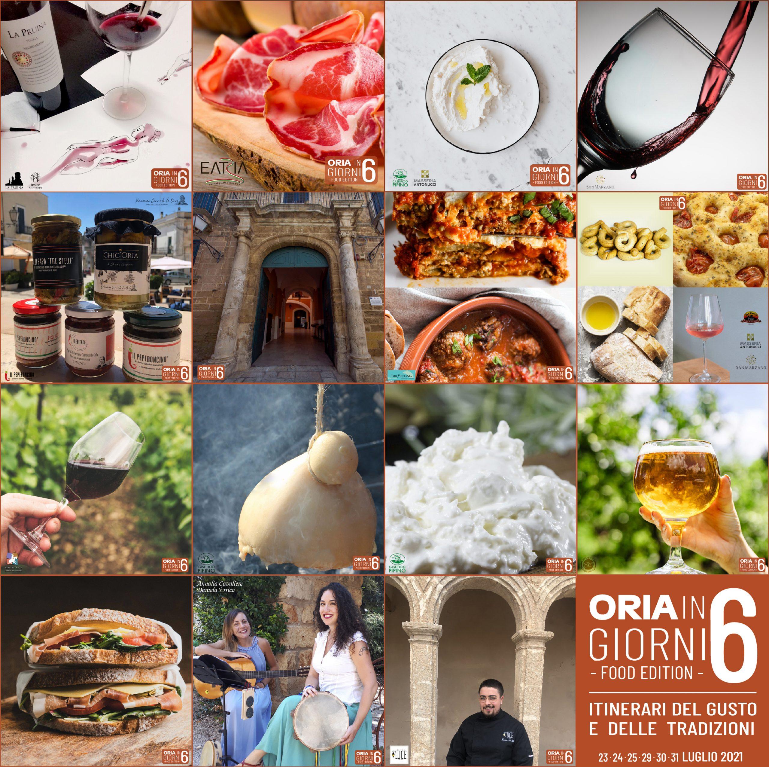 Seconda edizione di 'Oria in sei giorni', evento storico gastronomico